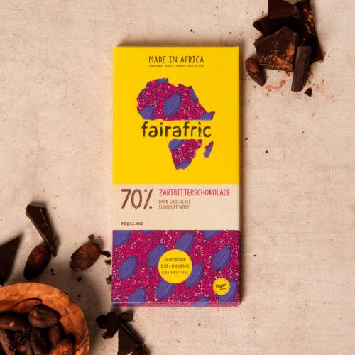 fairafric 70% Zartbitterschokolade - Bio+Tree-To-Bar *VEGAN*
