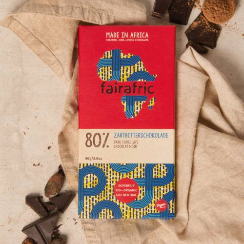 fairafric 80% Zartbitterschokolade - Bio+Tree-To-Bar *VEGAN*